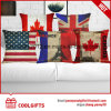 45cm*45cm Flag Design Square Cotton Linen Square Cushion Pillow