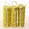 Yellow Smiley Face Pencil Bag Cylindrical Stationery Bag Circular Cylinder (GB#LL)