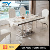 Chinese Furniture Marble Dining Table with 6 People