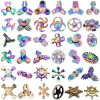 Rainbow Colorful Metal Finger Tri Spinner Hand Toy Fidget Spinner