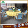 Round Table with Six Chairs for Party in Dining Room Hotel Furniture