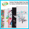 Cartoon Colored Drawing Flip Leather and Silicone Case for Samsung