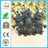 Metal Cats Sculpture Iron Cast Garden Figurine