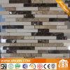 Villa Exterior Wall Cream Marfil and Emperador Marble Mosaic (S855001)