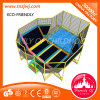 Customized Indoor Trampoline Park Safest Big Trampolines with Soft Play