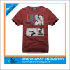 Men Washed Cotton Round Neck T-Shirt with Custom Screen Printing