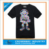 Men Black Cutet-Shirt with Customize Printing