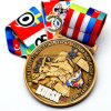 Newest Custom 3D Metal Medal with Customized Ribbon
