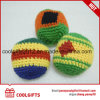 Wholesale Cotton Thread Knitted Kick Ball Custom Footbag Hacky Sack with Logo Printing