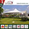 15m Width Mixed High Peak Tent with Multi-Side Ends Plain White PVC Sidewalls All Around