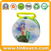 Metal Gift Tin Boxes with Handle for Promotional Lunch Tin Container