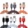 2.4A Pure Leather USB Cable Micro USB Charging Cable for iPhone and Android