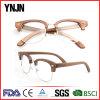 High Quality Ce FDA Retro Half Frame Wood Eyewear