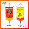 High Quality Kuwait Desk Table Flag with Base Metal Stand