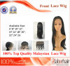 Malaysian Virgin Hair Front Lace Wigs (6Inch-Straight)