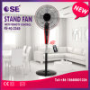 16 Inch Black Electric Stand Fan with Remote Control