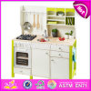 New Design Educational Toys Wooden Children Role Play Kitchen with Accessories W10c280