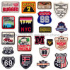 Custom Clothes Bag Heat Transfer Embroidery Patch