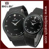 Belbi Couple Simple Big Dial Ultra-Thin Steel Wrist Watch
