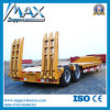 2 Axle 35-45t Low Flat Semi Trailer (concave beam pumping structure exposed tires)