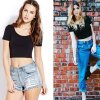 Close-Fit Ladies Cotton Crop Tops with Custom Label