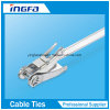 Silver Stainless Steel Cable Tie Ratchet Locking Zip Ties