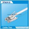 Silver Stainless Steel Cable Tie Ratchet Locking Zip Ties