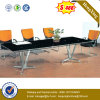 OEM Office Furniture Glass Top Metal Legs Conference Table (NS-GD057)