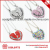 2017 Fashion Crystal Heart Necklace for Mother′s Day Gift with Mother and Daughter