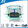 Blue Colour Mini Trampoline with Enclosure