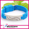 Best Gift Health Therapy Silicone Bands with Shiny Crystal (CP-JS-NW-006)