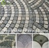 Natural Black Granite/Basalt/Slate/Sandstone/Porphyr Patio Paving Cobble Stone