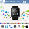 Perfect Compatible Android and Ios Mtk2501 Smart Bluetooth Wrist Watch Phone (V10)