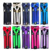 Hot Sale Adult Unisex Adjustable Solid Color Suspender and Bowtie Set