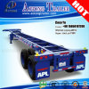 2 Axles 20ft Container Chassis Trailer for Argentina