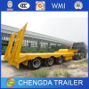 3 Axle 60ton Lowbed Semi Trailer Truck Trailer Use