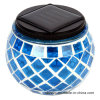Mosaic Glass Solar Jar for Decoration Green Color (RS114)