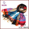 Four Color Stripes Knitted Jacquard Scarf (B10-4)