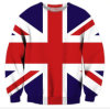 Women 3D Print Sweatshirt with United Kingdom Flag (A503)