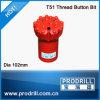 Top Hammer Thread Drill Bit T51-102mm, 16buttons, Regular