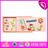 Hot New Product for 2015 Kids Wooden Domino Set, Children Domino in Wooden Box, Wooden Domino Game Set with Factory Price W15A016