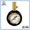 "1.5"" Tire Pressure Gauge with Brass Case, Rubber Boot Protected, 0 to 160 Psi, Release Button"