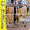 Keenhai Custom-Made 304 Stainless Steel Metal Hanging Clothes Rack