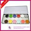 Hot! ! ! New Product! Top Quality 12 Elegant Colors Face Paint Pencil Case Metal Palette