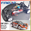 RC Brushless 1/10 Race Car with Red Shape