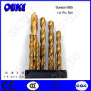 Straight Shank HSS Twist Titanium Drill Bits Set for Metal