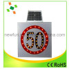 Aluminum Speed Limited Solar LED Flashing Traffic Sign