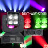 4*15W LED RGBW 4in1 Moving Head Stage Beam Wash Zoom Light