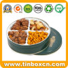 Round Metal Tin Can Nuts Tin Box for Food Packing