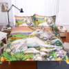 Reactive 3D Unicorn Oil Paiting Printed Bedding Set (flowers printed)